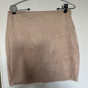 Suede mini skirt misguided